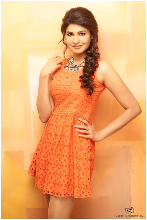 Anjena kirti orange color stills