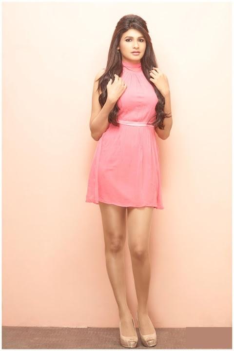 Anjena kirti pink color dress unseen fotos