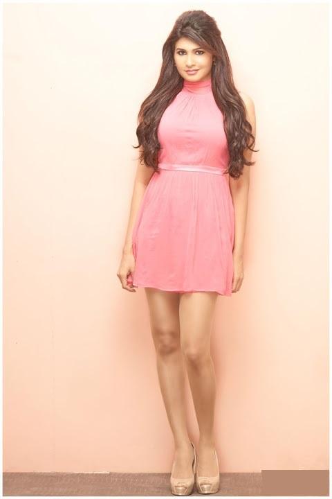 Anjena kirti pink dress cute pictures