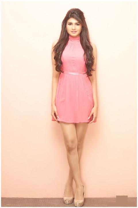 Anjena kirti pink dress figure photos