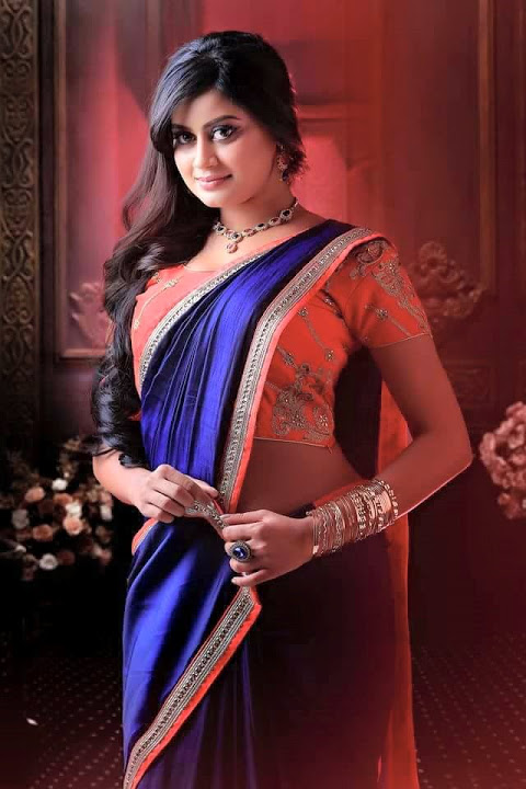 Ansiba hassan blue saree hot hd image