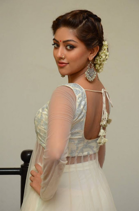 Anu emmanuel white dress interview stills
