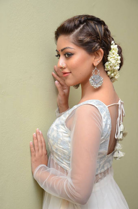 Anu emmanuel white dress movie promotion gallery