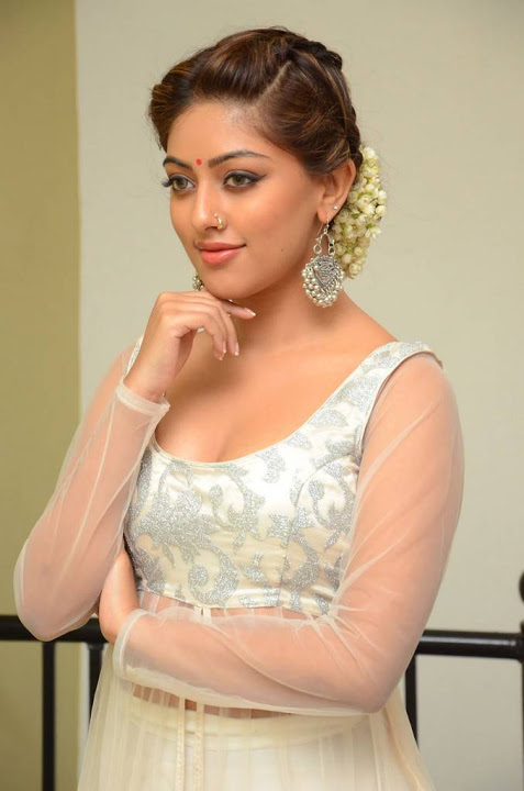 Anu emmanuel white dress press meet slide show