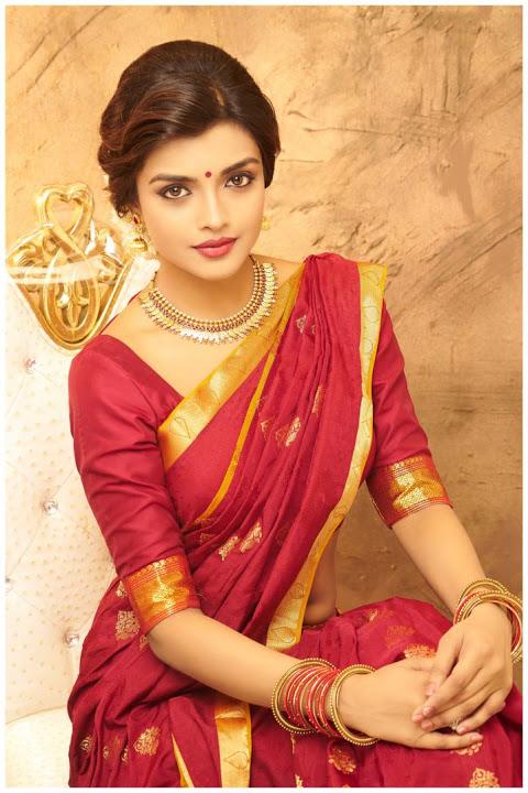 Ashna zaveri red saree photos