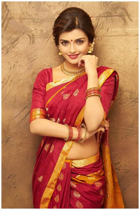 Ashna zaveri red saree wallpaper