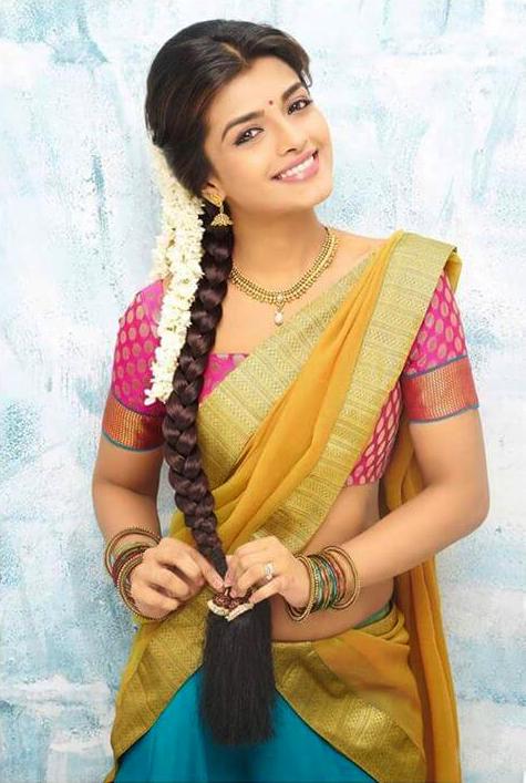 Ashna zaveri yellow half saree photos