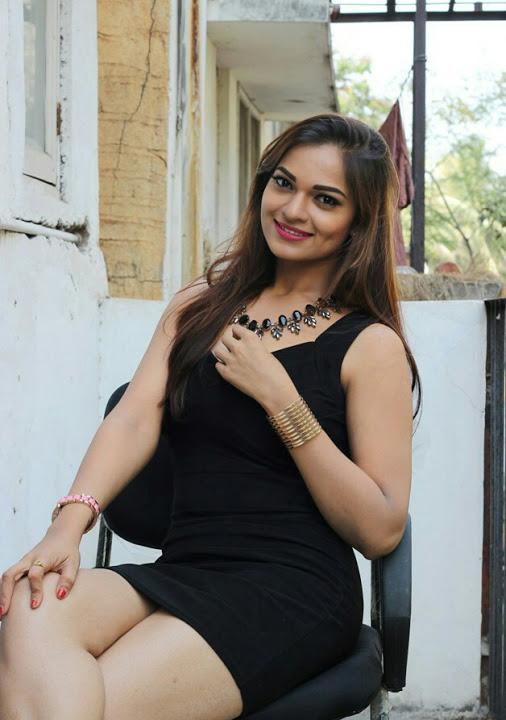 Ashwini black dress glamorous photos
