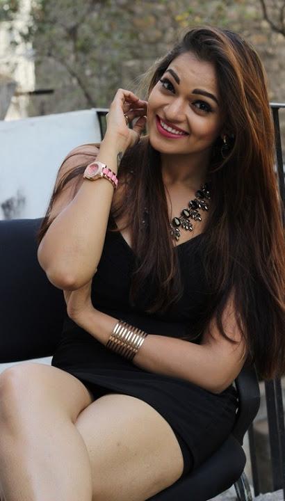 Ashwini black dress heroine image