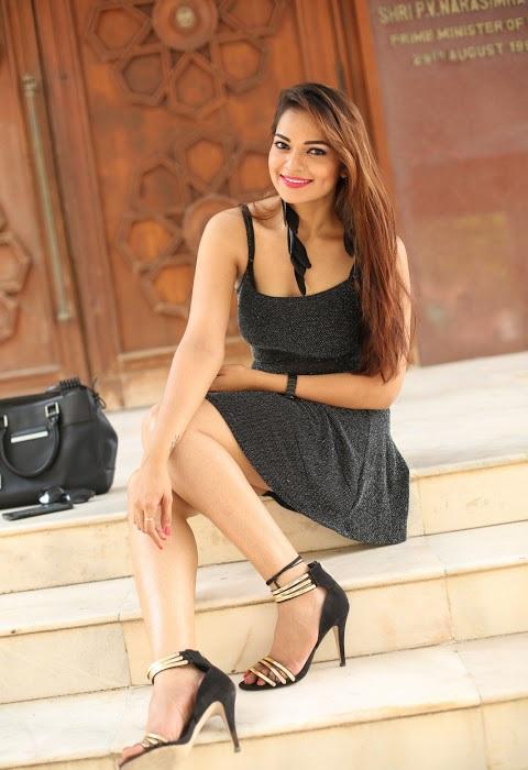 Ashwini black dress photoshoot cute photos