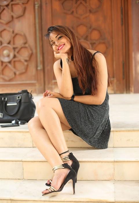 Ashwini black dress photoshoot figure wallpaper
