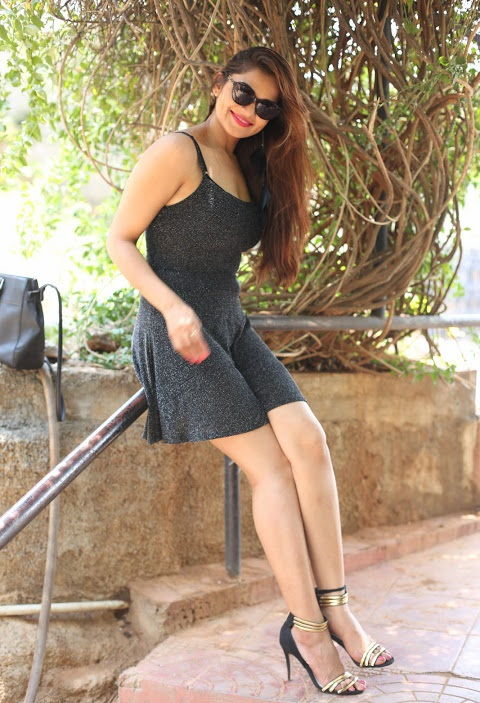 Ashwini black dress photoshoot smile pose stills