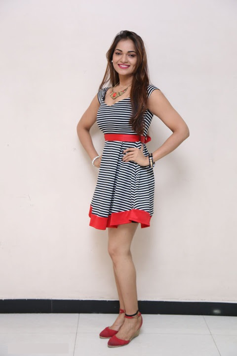 Ashwini gray color dress hd stills