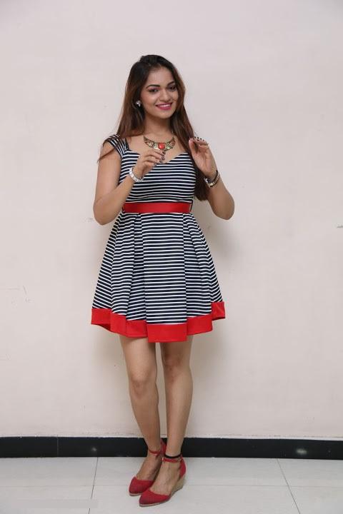 Ashwini gray color dress photoshoot pics