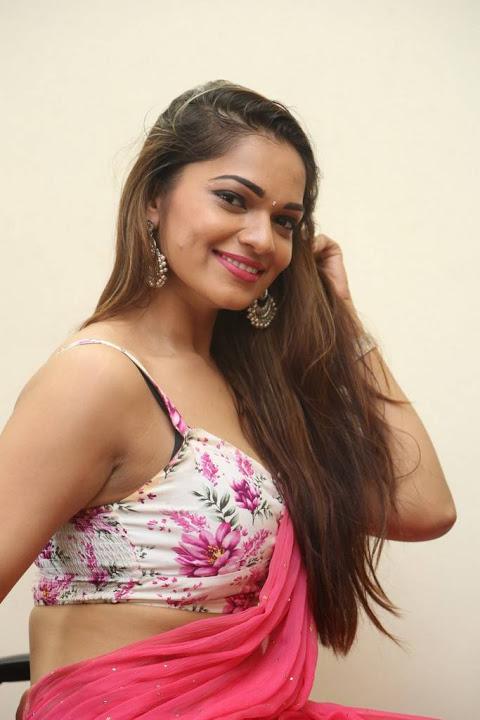 Ashwini pink saree cute wallpaper