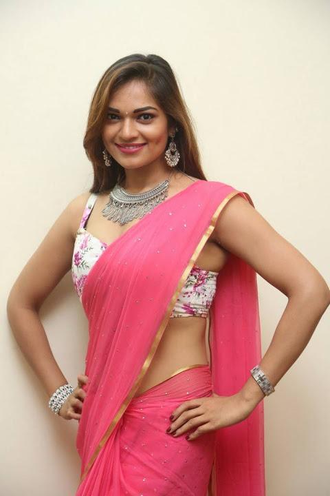 Ashwini pink saree fashion image