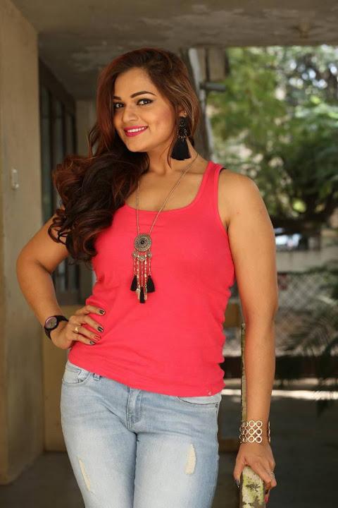 Ashwini red dress desktop wallpaper