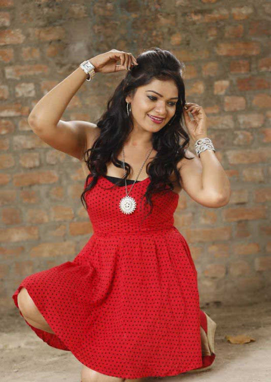 Ashwini red dress figure photos