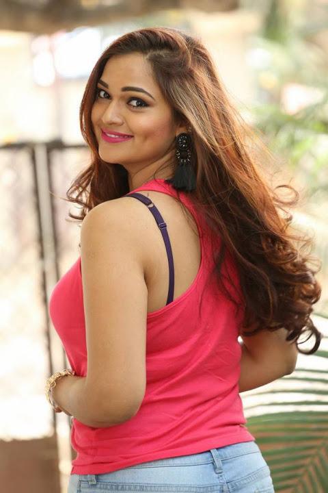 Ashwini red dress interview pics