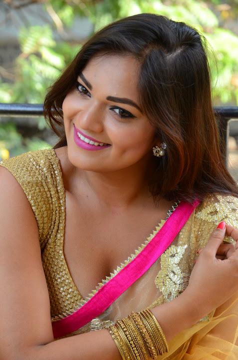 Ashwini yellow saree hot pics
