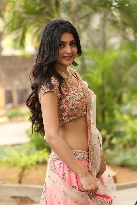 Avantika mishra half saree glamour image
