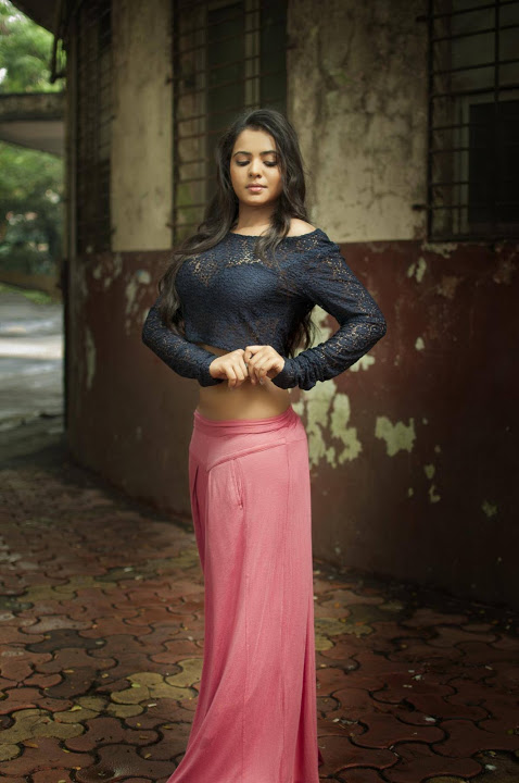 Manasa himavarsha black and red dress photos