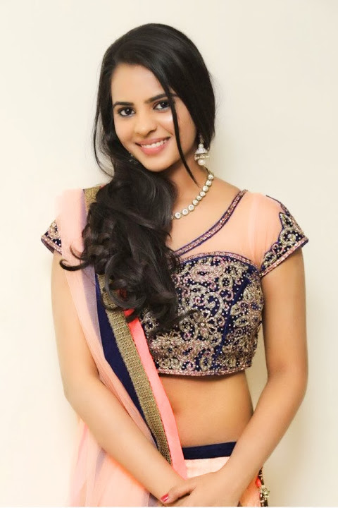 Manasa himavarsha light pink color saree photos