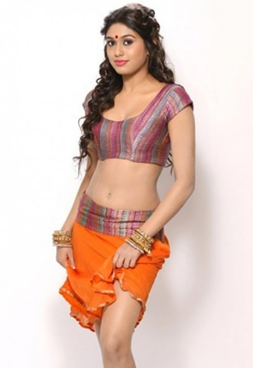 Manisha yadav orange color dress photos