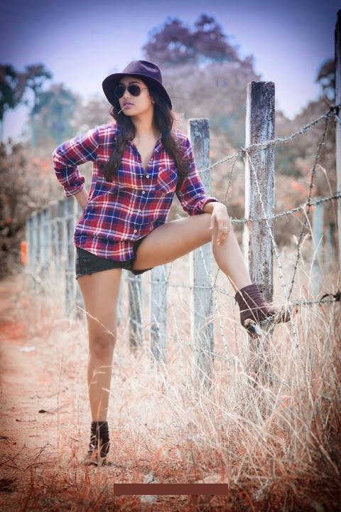 Manisha yadav purple dress image