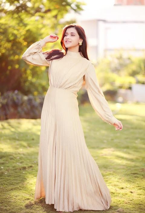 Mannara chopra white dress fashion image
