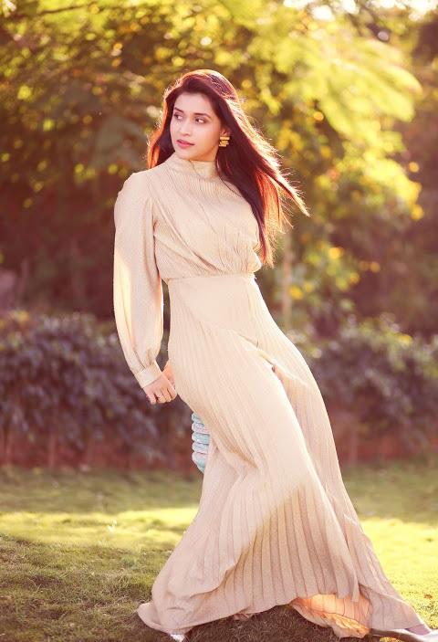 Mannara chopra white dress smile pose pics