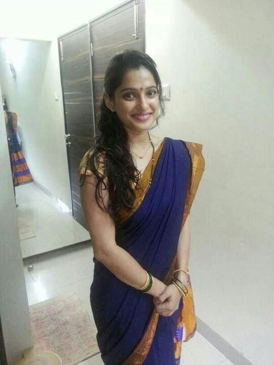 Priya bapat cute saree photos