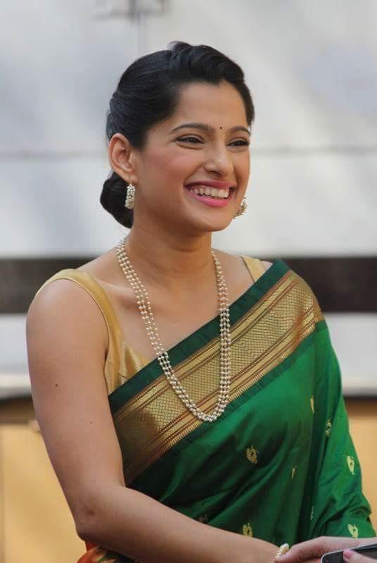 Priya bapat green saree photos