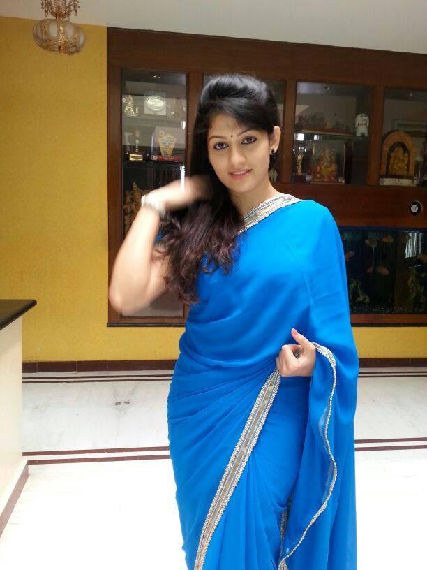 Radhika kumaraswamy blue saree photos
