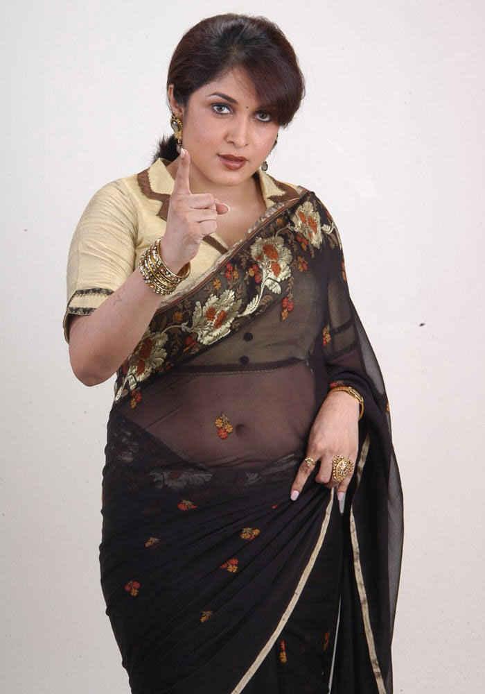 Ramya krishnan black saree images