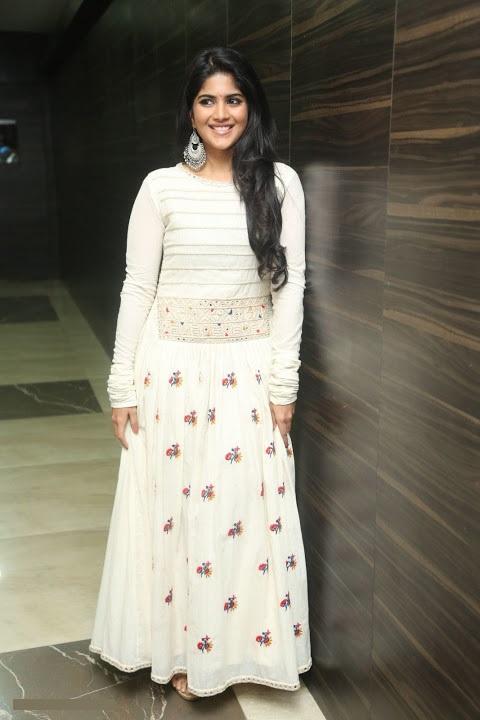 Megha akash white dress fashion image