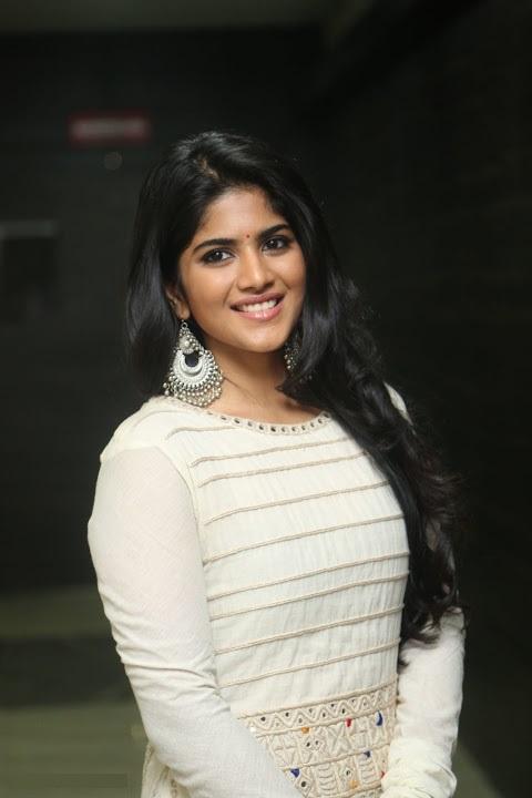 Megha akash white dress interview stills