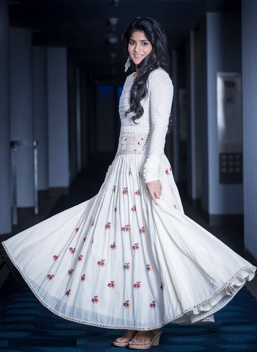 Megha akash white dress pictures
