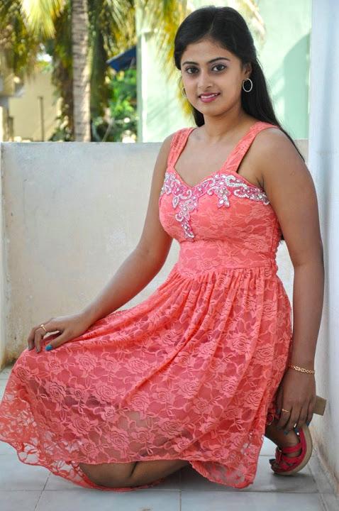 Megha sri pink color dress stills