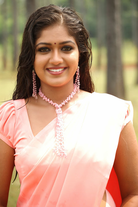 Meghna raj pink saree hot cute stills