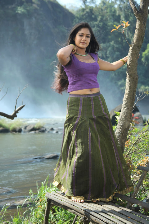 Meghna raj purple color dress photos