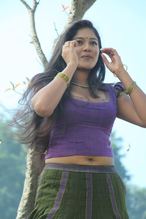 Meghna raj purple color dress pictures