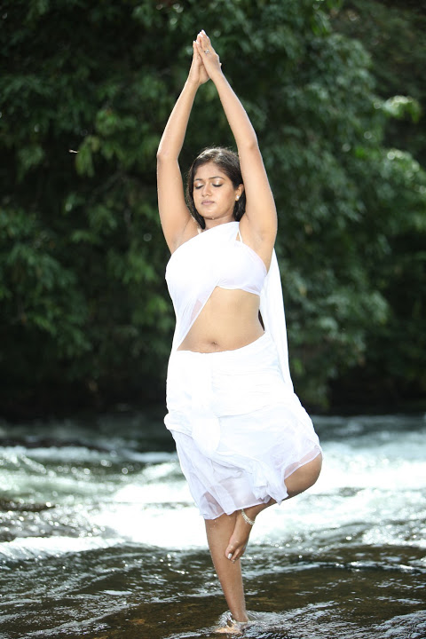 Meghna raj white saree hot photos