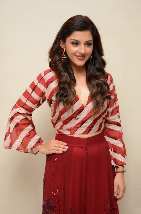 Mehreen kaur red dress pictures