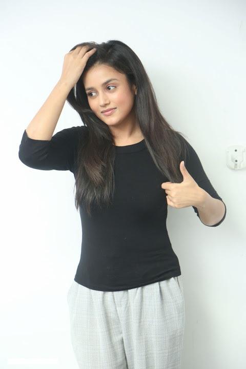 Mishti chakraborty black dress glamour stills