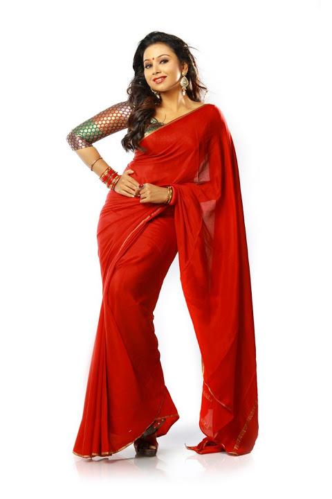 Mridula murali red saree photos