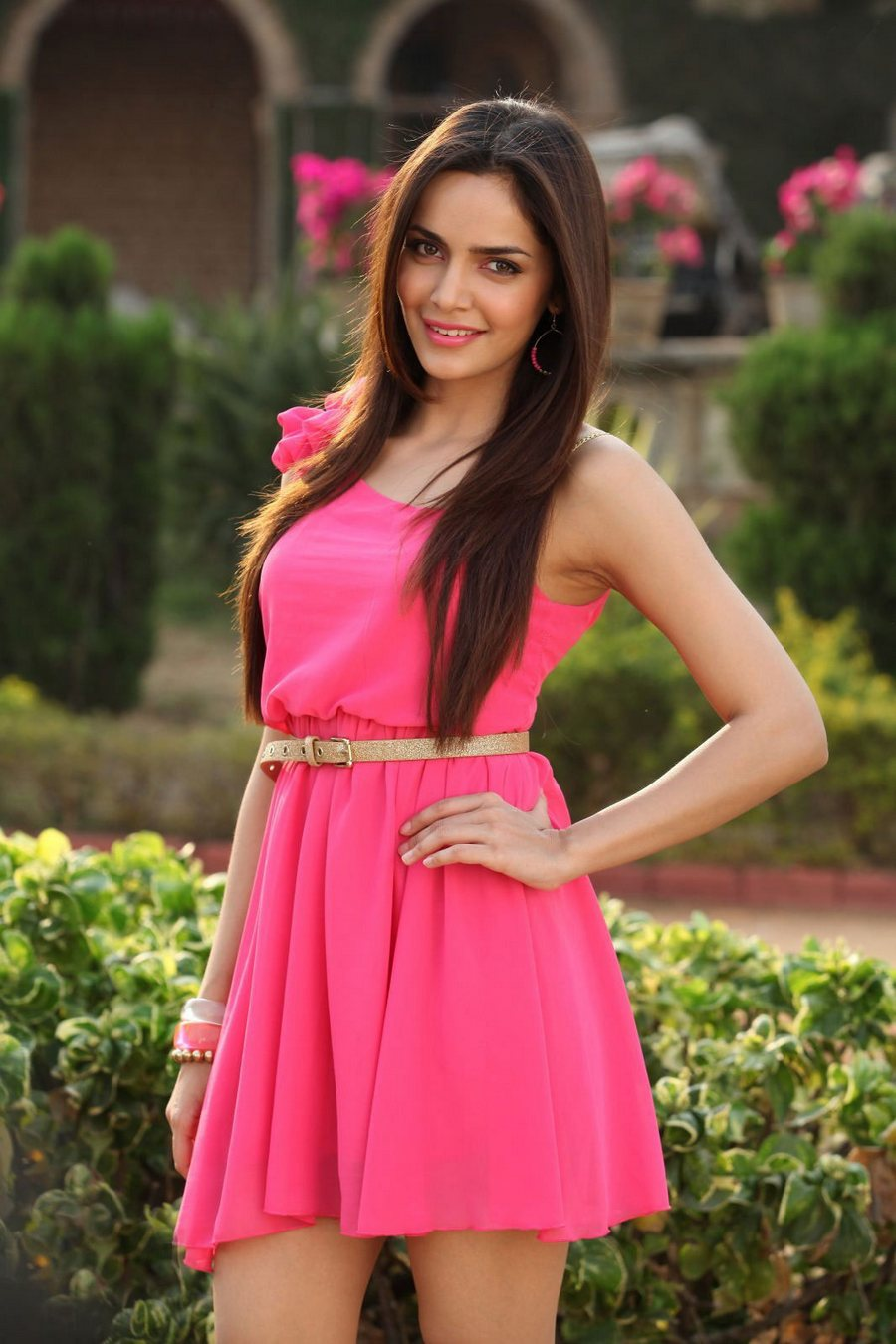 Shazahn padamsee pink dress photos