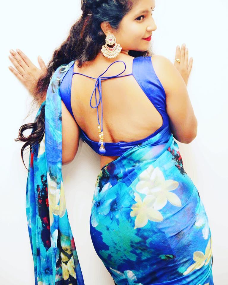 Shubha poonja saree backless photos