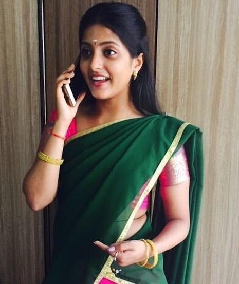 Ulka gupta green saree photos
