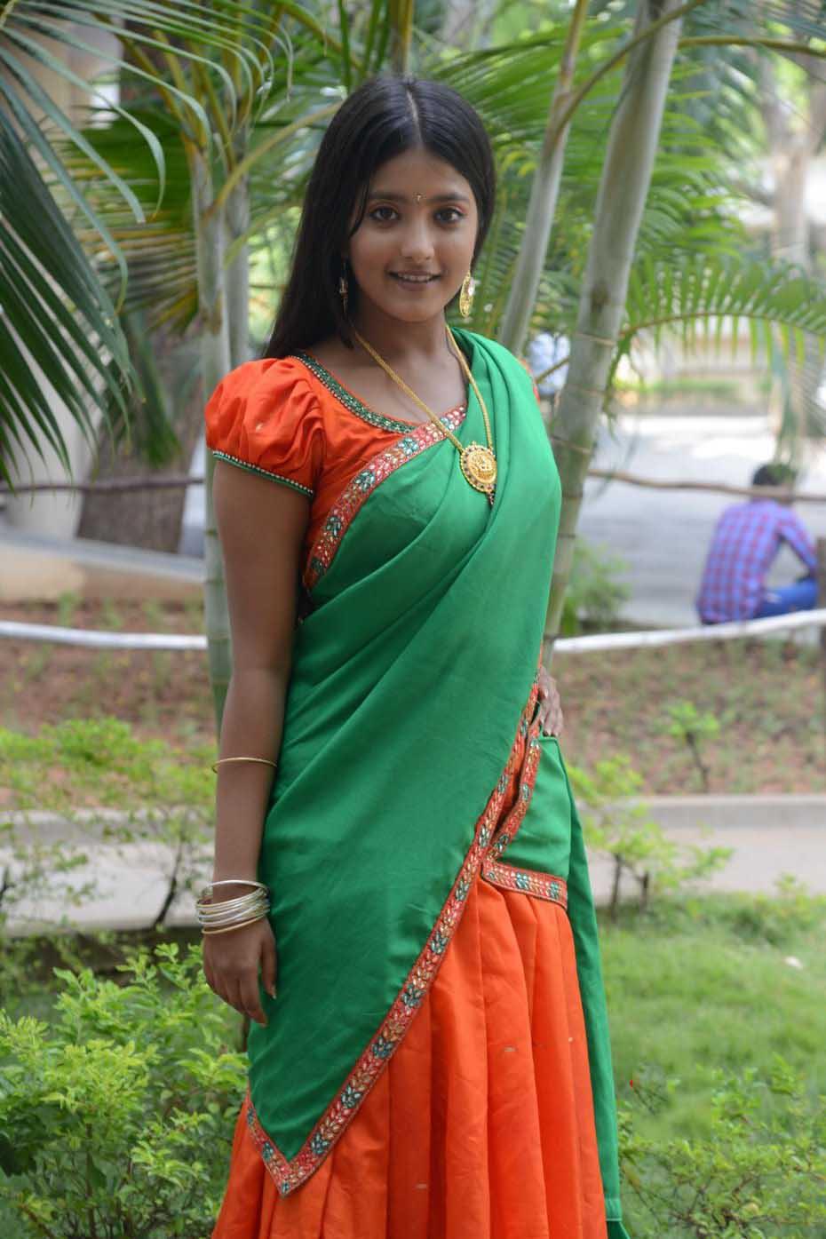 Ulka gupta half saree photos